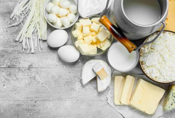 Milchprodukte: Käse, Quark, Joghurt, Butter
