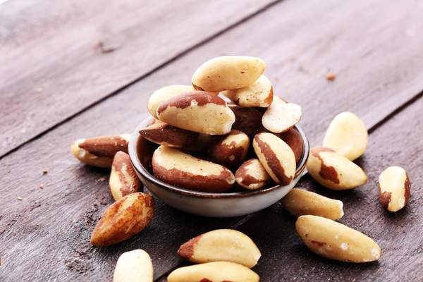 Paranüsse enthalten große Mengen des Mineralstoffs Selen